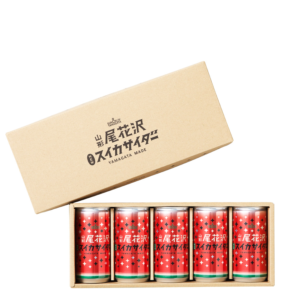 山形尾花沢スイカサイダー詰合せ5缶セット